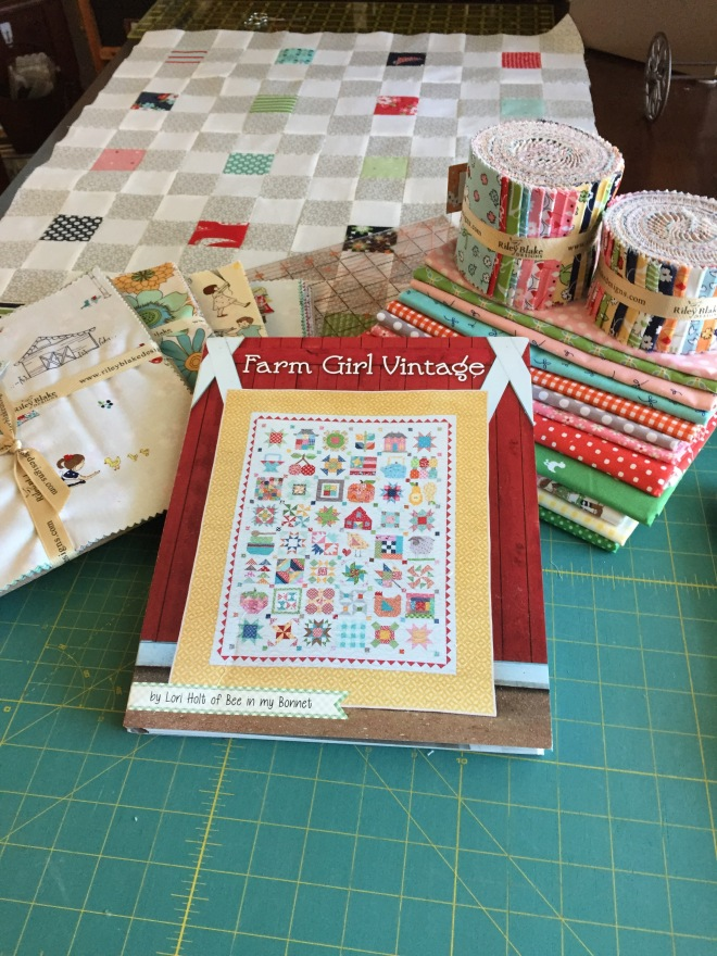 A great book together with my selected fabrics for the quilt along!